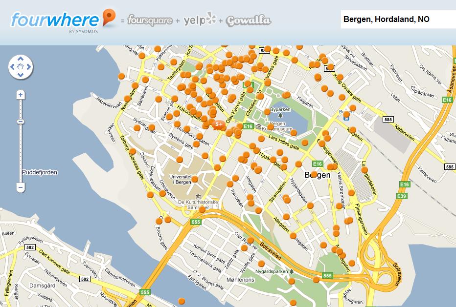 """Noen av de mange """"spots brukere har laget i Bergen"""