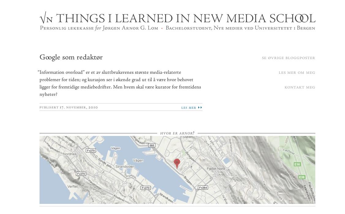 N Things I Learned in New Media School